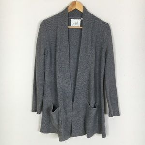 Anthro Angel Of The North Gray Cardigan Sweater